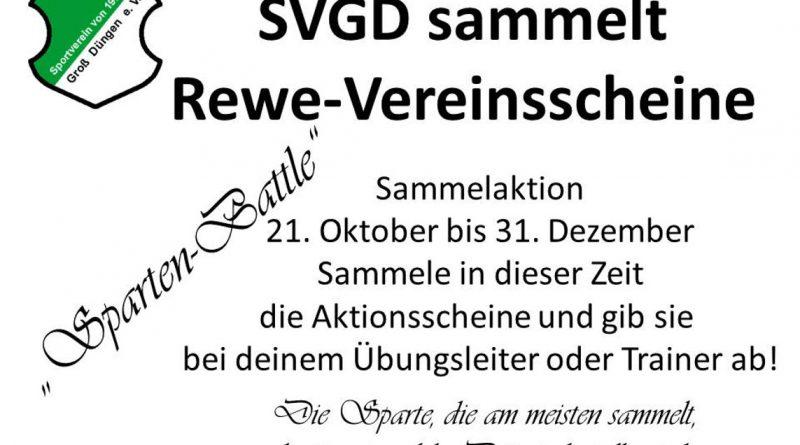 SVGD sammelt Rewe-Vereinsscheine